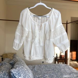White Blouse, Abercrombie & Fitch